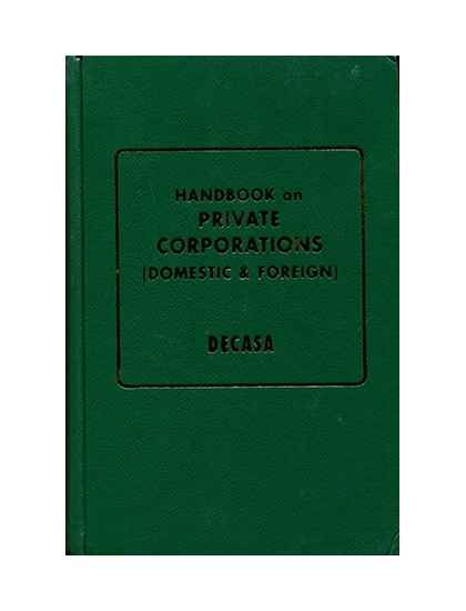 Handbook on Private Corporations (Domestic and Foreign)