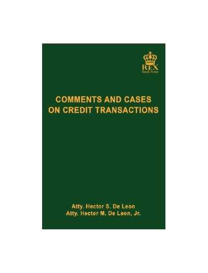 Comments and Cases on Credit Transactions (Revised Edition)