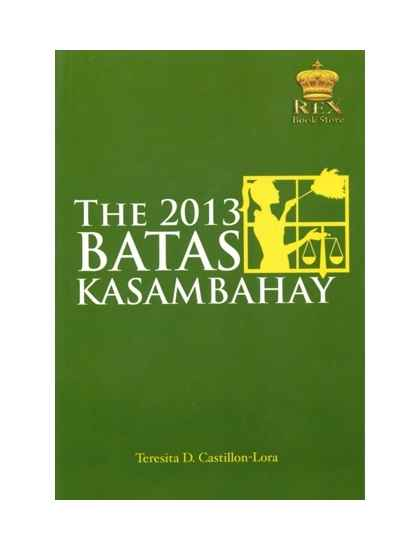 The 2013 Batas Kasambahay