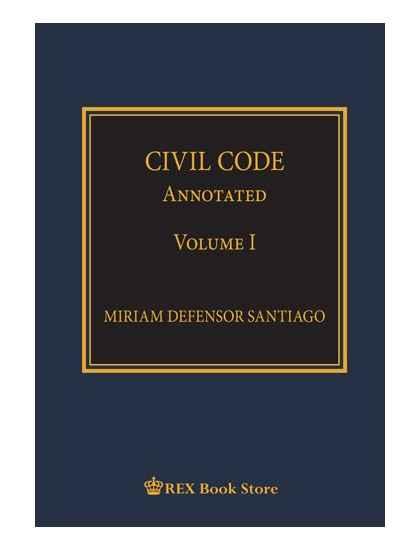 Civil Code Annotated Volume I [Paperbound]