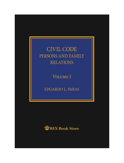 Civil Code of the Philippines Annotated Vol. I [Clothbound]