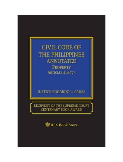 Civil Code of the Philippines Annotated Vol. II (Property) [ Clothbound]