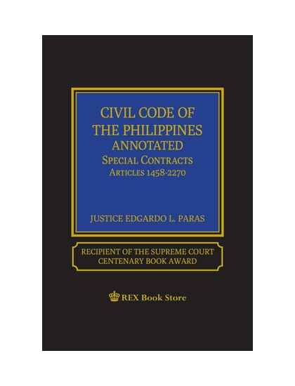 Civil Code of the Philippines Annotated Vol. V (Special Contracts) [Clothbound]