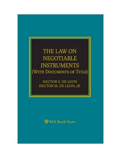 The Law on Negotiable Instruments ( with documents of title)