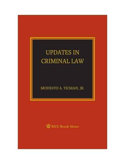 Updates in Criminal Law [Paperbound]