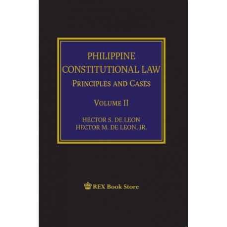 Philippine Constitutional Law Volume II (Cloth Bound)