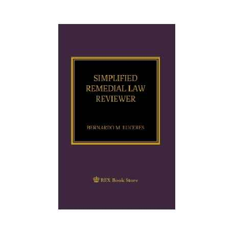 Simplified Remedial Law Reviewer (Paper Bound)