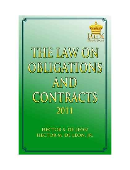 The Law on Obligations and Contracts by Hector S. De Leon ...