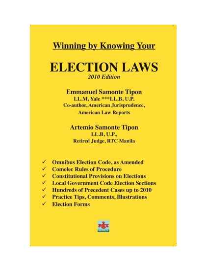 Winning by Knowing Your Election Laws