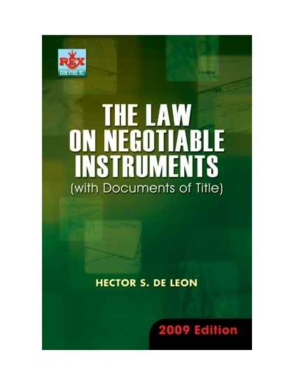 negotiable instruments law philippines Negotiable instruments act, 1881 structure 10 objectives 11 introduction sections 118 and 119 of the negotiable instrument act lay down.