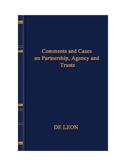 Comments and Cases on Partnership,Agency and Trusts