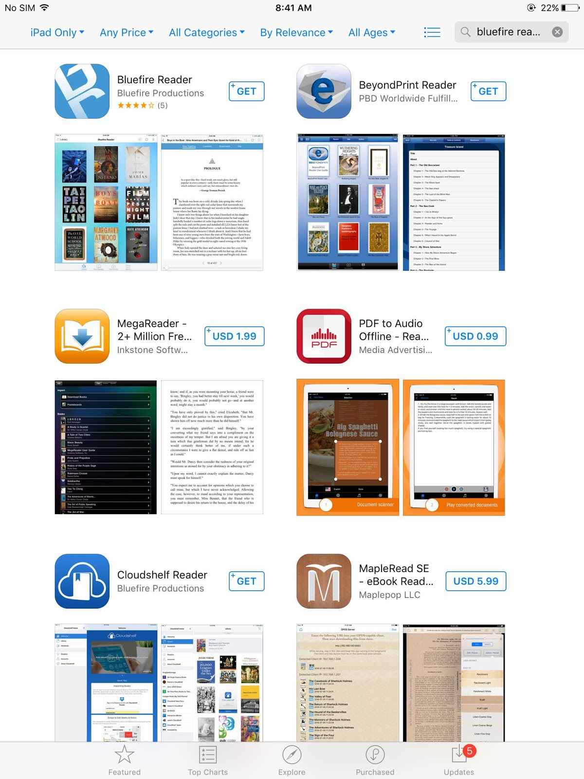 Step 5 : Download Of The App Will Initiate On The App Store After  Download, Open The App And It Will Redirect To Log In Page Of Bluefire  Reader