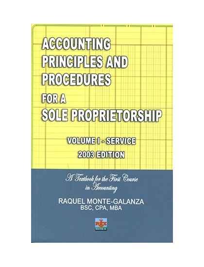 Acctg. Principles and Procedures Sole Prop. Vol. I-Servicing