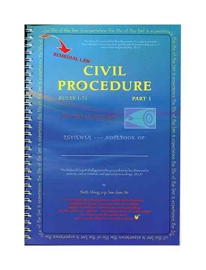 Civil Procedure 1-71 Part I