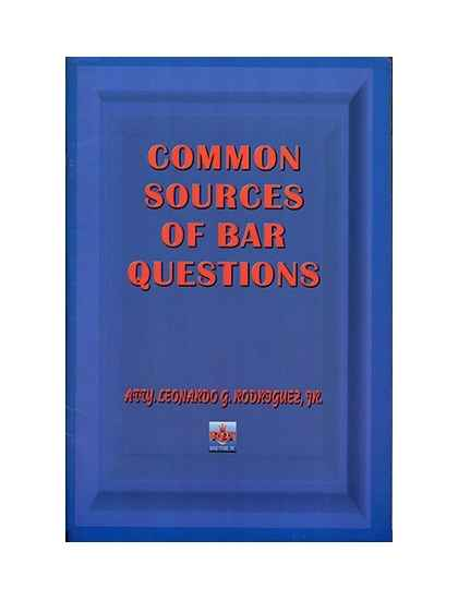 Common Sources of Bar Questions