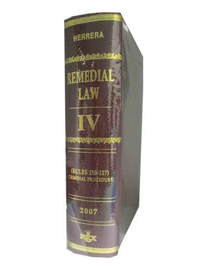 Remedial Law, Vol. IV (Criminal Procedure)