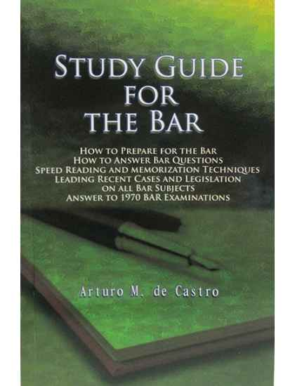 Study Guide for the Bar