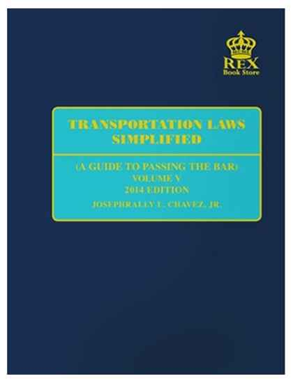 Transportation Laws Simplified Vol V By Chavez
