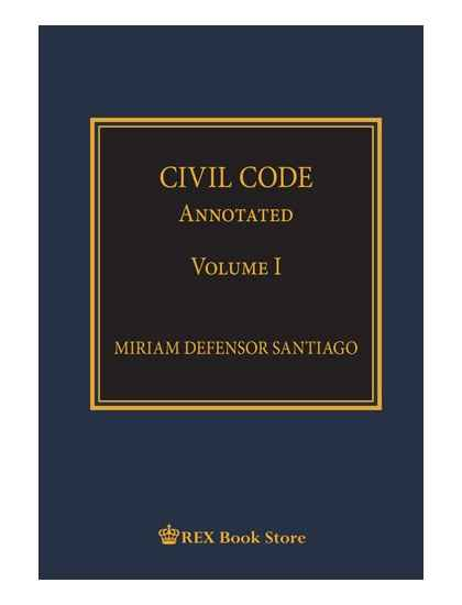 Civil Code Annotated Volume I [Paperbound]