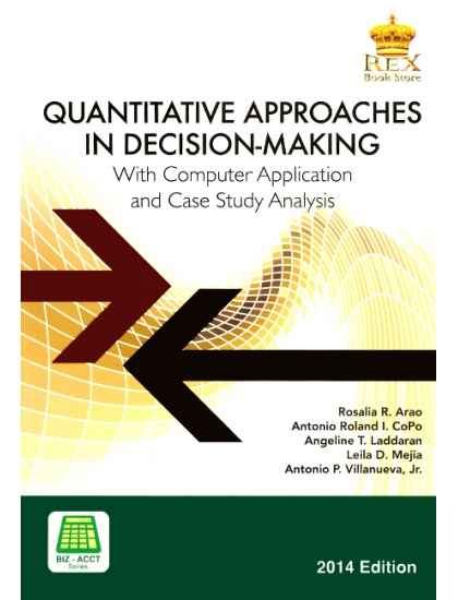 Quantitative approaches in Decision Making