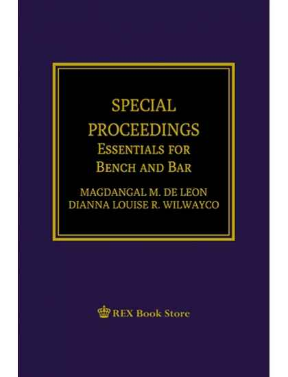 Special Proceedings (Essentials for Bench and Bar) [Paperbound]