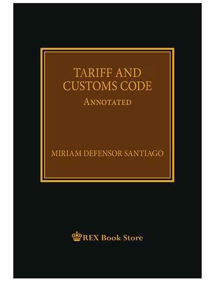 Tariff and Customs Code | Law Book | Rex Book Store