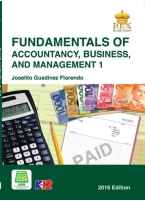 Fundamentals of Accountancy, Business and Management 1 [ e-Book : PDF ]