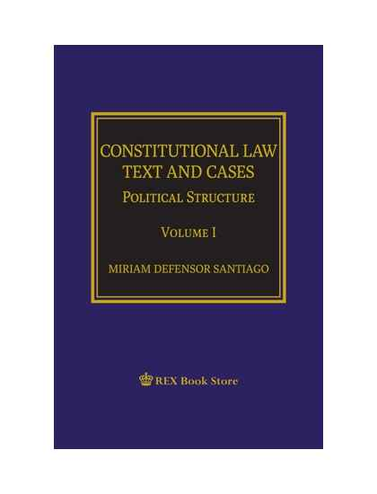 Constitutional Law Text and Cases : Political Structure Vol. I [Paperbound]