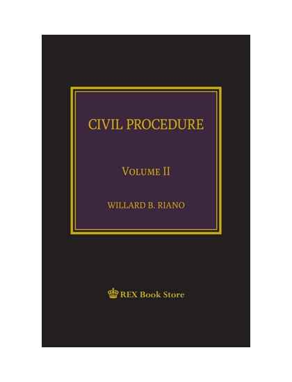 Civil Procedure Vol. II (The Bar Lectures Series) [Clothbound]