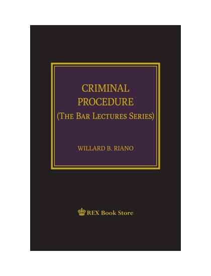Criminal Procedure (The Bar Lecture Series)