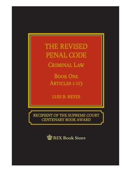 Revised Penal Code Book 1 By Reyes