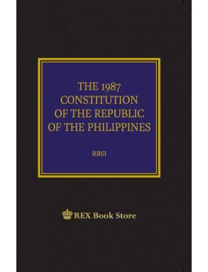 philippine constitution ps  rex staff law book rex book store
