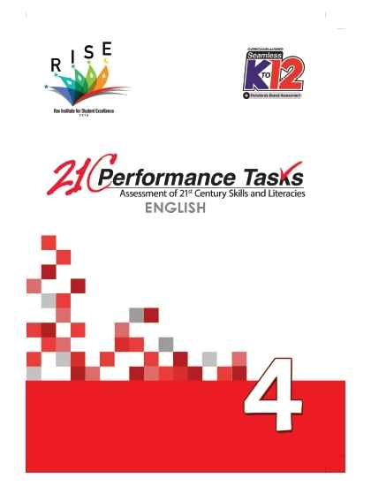 Performance Tasks English 4