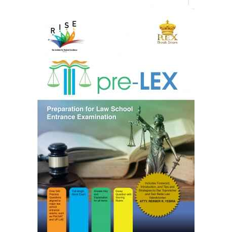 PRE-LEX (PREPARATION FOR LAW SCHOOL ENTRANCE EXAMINATION) PAPERBOUND