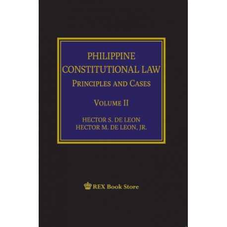 Philippine Constitutional Law Volume II (Cloth Bound)