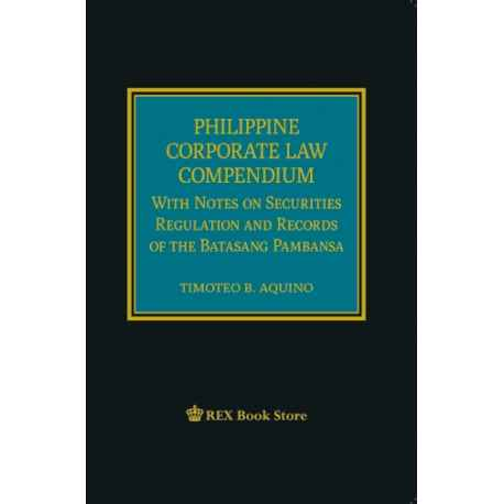 Philippine Corporate Law Compendium