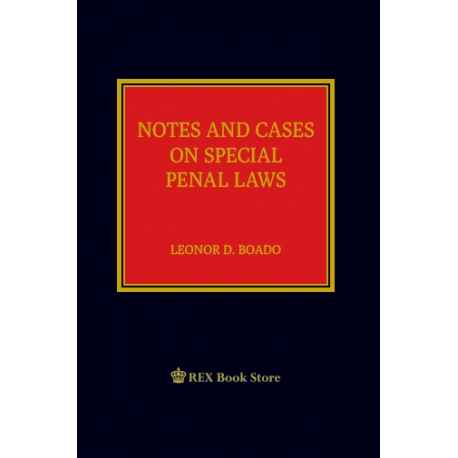 Notes and Cases on Special Penal Laws [Clothbound]