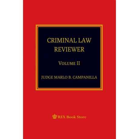 CRIMINAL LAW REVIEWER VOLUME II (2019