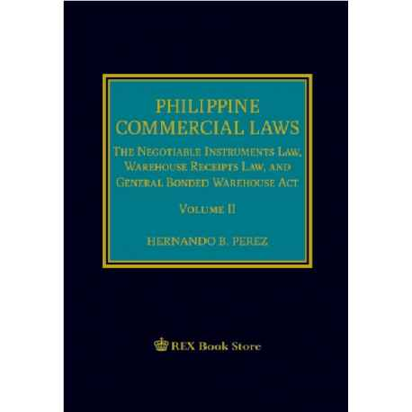 Philippine Commercial Law Volume II 2019 Edition (Cloth Bound)