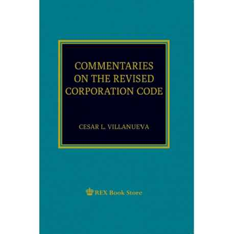 Commentaries on Revised Corporation Code (2019 Edition) Paper Bound