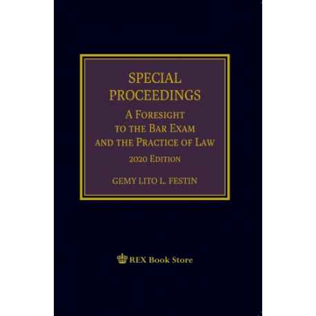 Special Proceedings (A Foresight to the Bar Exam & the Practice of Law [Paperbound]