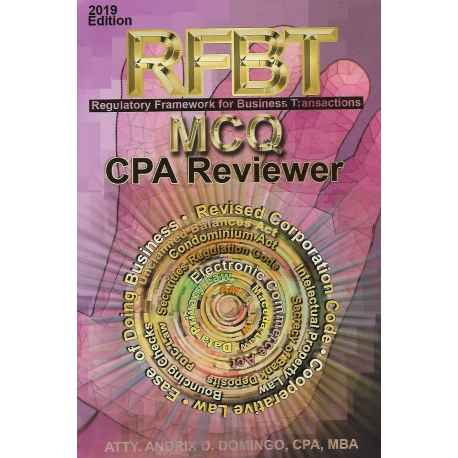 RFBT MCQ CPA REVIEWER (2019 EDITION) PAPER BOUND