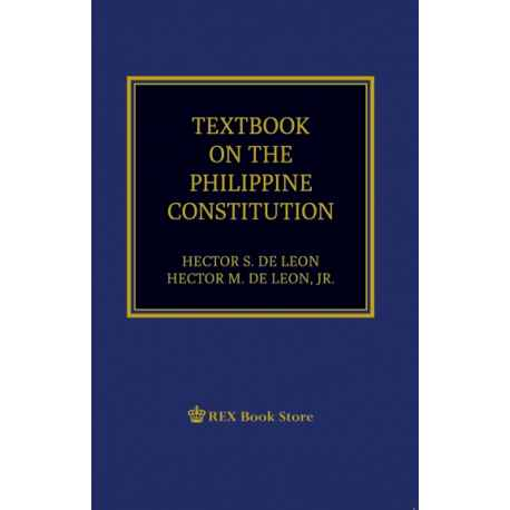 Textbook on the Philippine Constitution (2019 Edition) Paper Bound