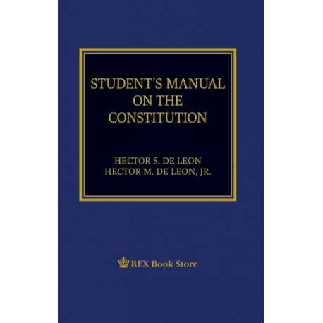 Student's Manual on the Constitution (2019 Edition) Paper Bound