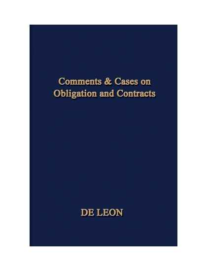 Comments & Cases Obligation and Contracts