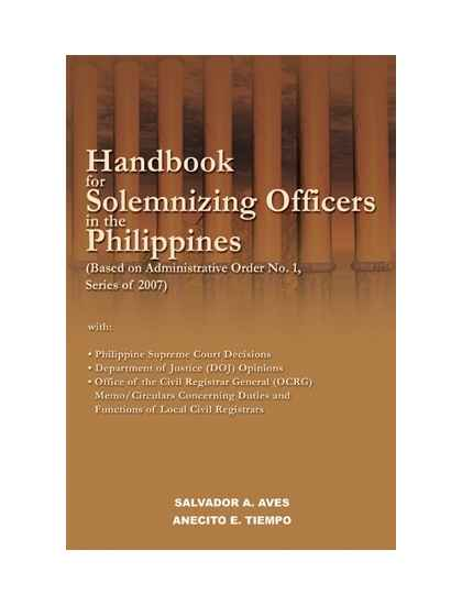 Handbook for Solemnizing Officers in the Philippines