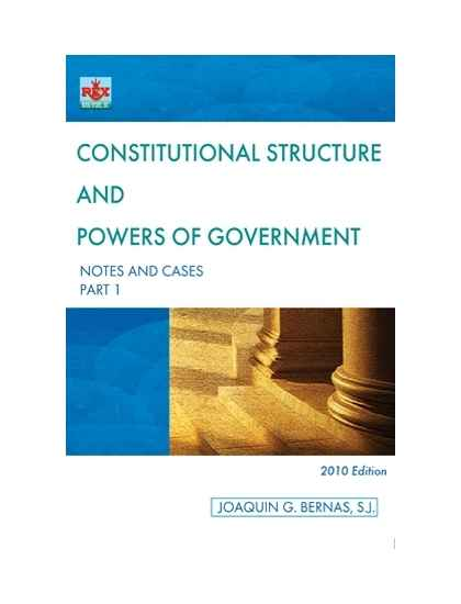 Constitutional Structure & Powers of Government Part I