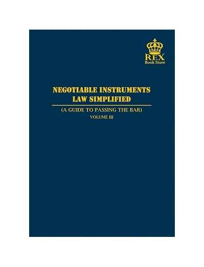 Negotiable Instruments Law Simplified