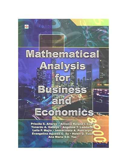 Mathematical Analysis for Business and Economics