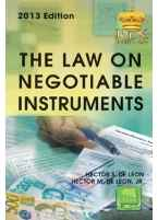 The Law on Negotiable Instruments (with documents of Title)